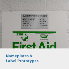Nameplates and Label Prototypes